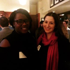 Van Eperen's Debra Buck and Colleen Fogarty attend the Gaithersburg-Germantown Chamber of Commerce Young Professionals Group holiday happy hour