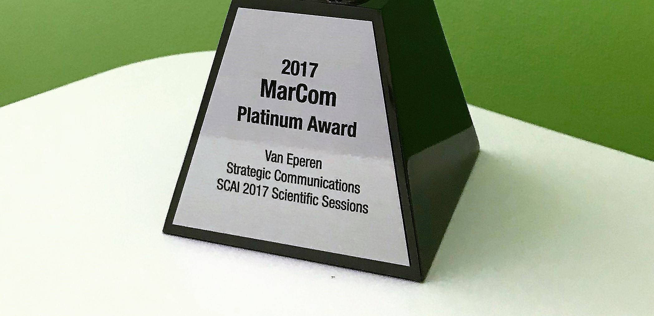 Van Eperen Honored with 2017 MarCom Platinum Award •