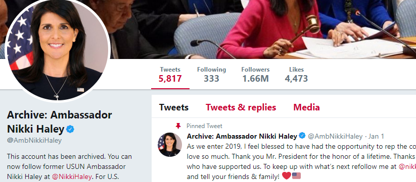 How Nikki Haley Rebuilt Her Twitter Status Overnight • Social Media