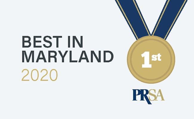 Van Eperen Wins Two Awards at PRSA Maryland's 2020 Awards Gala